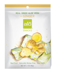 ALO Snacks Aloe + Ginger